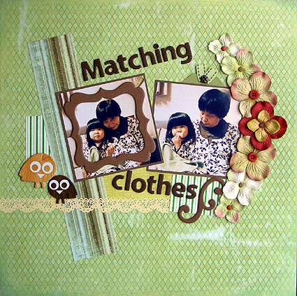 Matching clothes(Pencil Lines#124)