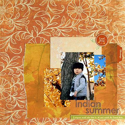 indian summer(Scrapidées/Tournoi -3etour)